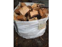 1 ton bag size bag sized (1 cubic meter bag) of loose seasoned hard wood logs for sale