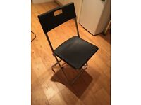 GUNDE Ikea Folding Chairs, Set of 4, Black *WHITSTABLE MOVING SALE*