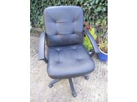 Black Faux Leather Swivel Office Chair/Desk Chair