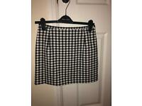 Gingham skirt