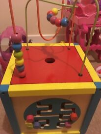 Chad valley wooden activity cube excellent condition
