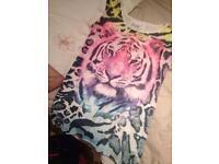 Tiger print top