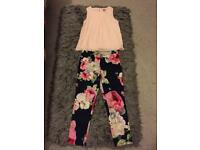 Ted baker girls top and trousers age 9