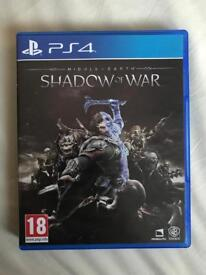 Shadow of war PS4 mint condition still available!!!!