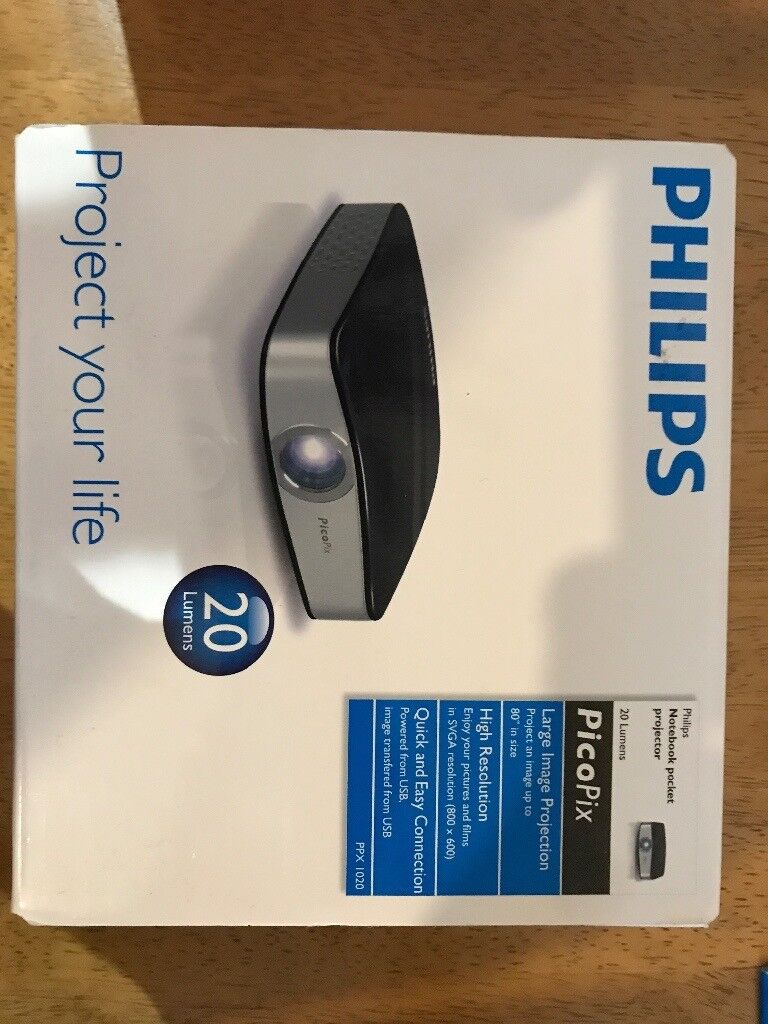 Philips Philips PicoPix Notebook Pocket Projector 20 Lumens Brand New PPX1020