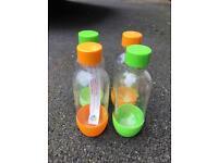 4 x Small 500ml Sofastream bottles