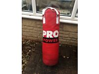 Punch Bag suitable for hanging + boxing gloves