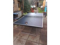 Table Tennis Table Cornilleau Indoor with cover net and bats