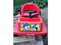 Vintage Postman Pat ride-on pedal toy car