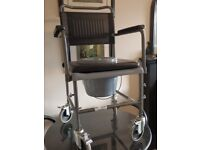 COMMODE WHEELCHAIR NEW / UNUSED (COST £112) BARGAIN £35 !