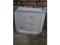 Shower tray Slimline acrylic 800mm X 800mm - NEW STILL IN WRAPPING