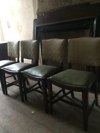 4x 1960s dining room chairs