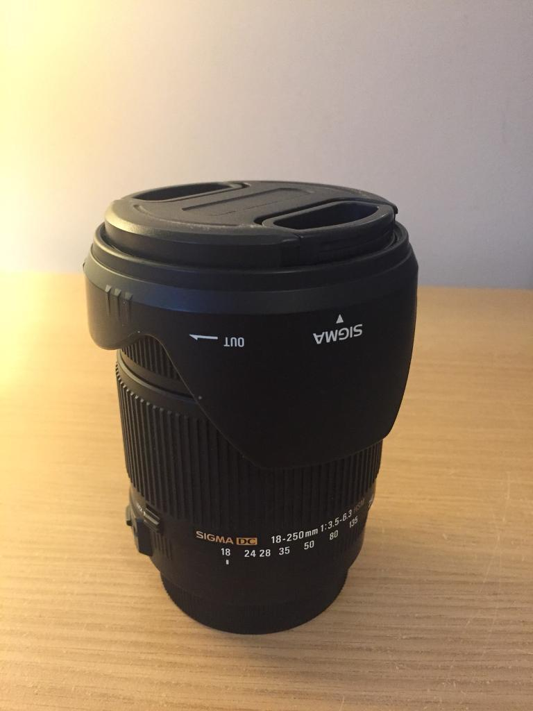 6eea95ed6d9 Sigma DC 18-250mm Canon Lens with image stabilisation. Harthill