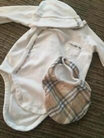 Genuine Burberry vest set