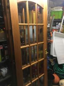 15 pane solid wood doors x5