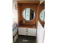Vintage 1960s Stonehill dressing table with mirror