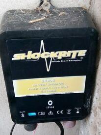 Shockrite electric fence energiser and Dynamic 12 volt battery.