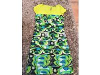 Green mix dress. Size U.K. 10. Excellent condition £6. Can post or collect from Tqy