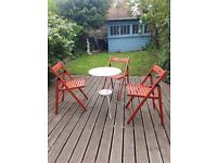 Table and 3 folding chairs
