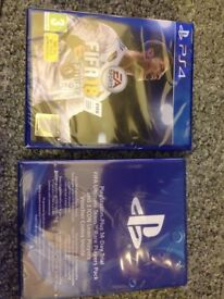 Fifa 18 plus bonus disk for l PS4 all in original packing