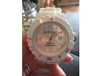 White silicone watch