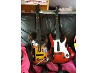 Wii Guitars x 2 & 5 games and various wii bits