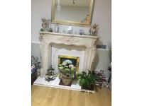 Fire surround in Marblesque (Louis) with marble hearth no chips or cracks all immaculate