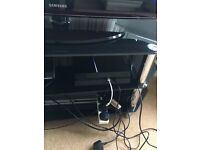 Playstation 4 with cables and controller