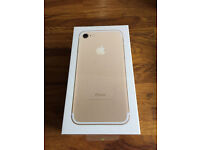 iPhone 7 Rose Gold 32GB boxed sealed