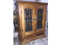 A Gorgeous large solid wood TV / Stereo / Display storage cabinet.