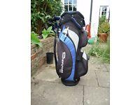 Benross Zephyr Blue Golf Bag - Very Good Condition.