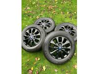 "16"" 17"" Ford Transit Custom Limited Alloy Wheels Conti Tyres MK9 MK8"