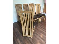 6 x solid wood dining chairs (table also available for free)