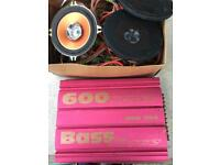Car Bass rorce amplifier & pioneer TS-G1316 speakers