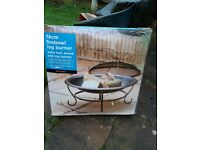 Log burner (fire bowl) 74cm for use in the garden - brand new, never used