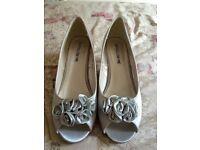 Silver kitten bridal/ bridesmaid shoes