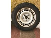 VW Transporter T5 steel wheels with tyres x4
