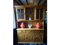 Vintage Welsh Style Reproduction Large Pine Kitchen Farmhouse Dresser