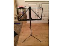 Adjustable music stand with case