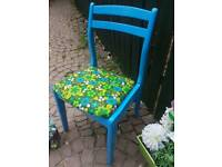 Funky up cycled chair