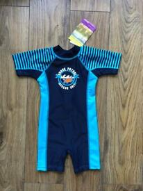 BRAND NEW Boys UPF 50+ Sun Protection Swimsuit (12m)
