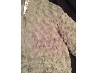 Grey Faux Fur Coat Age 13-14 Years