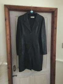 Ladies Black Leather Coat
