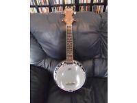 Banjolele ( Ashbury AB34 ukelele-banjo) in mint condition.