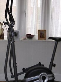 Body sculture combined exercise cycle and elliptical strider