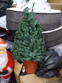 Christmas decorations various job lot wall hung tree, talking fibre optic wreath, standing angel etc