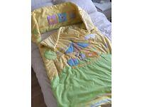 Cot bedding & bumper