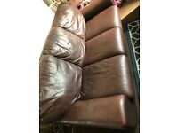 3 seater used sofa, faux leather free