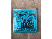 NEW Ernie Ball Extra Slinky bass guitar strings