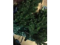 3-4ft artificial Christmas tree and Father Christmas snowing musical box